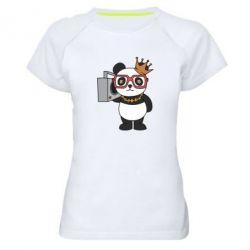 Жіноча спортивна футболка Cool panda