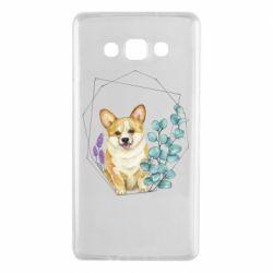 Чехол для Samsung A7 2015 Corgi and flowers