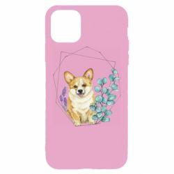 Чехол для iPhone 11 Pro Max Corgi and flowers