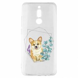 Чехол для Xiaomi Redmi 8 Corgi and flowers