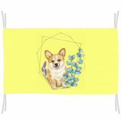 Флаг Corgi and flowers