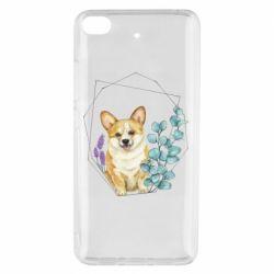 Чехол для Xiaomi Mi 5s Corgi and flowers