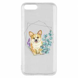 Чехол для Xiaomi Mi6 Corgi and flowers