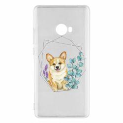 Чехол для Xiaomi Mi Note 2 Corgi and flowers