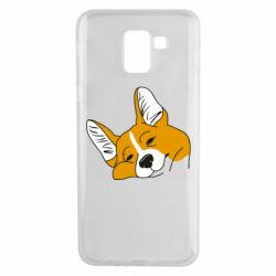 Чохол для Samsung J6 Corgi is dozing