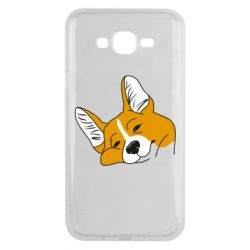Чохол для Samsung J7 2015 Corgi is dozing