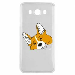 Чохол для Samsung J7 2016 Corgi is dozing