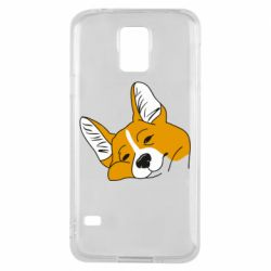Чохол для Samsung S5 Corgi is dozing