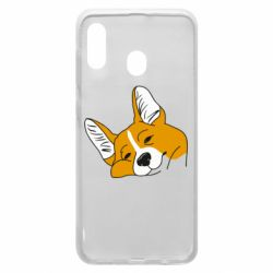 Чохол для Samsung A20 Corgi is dozing