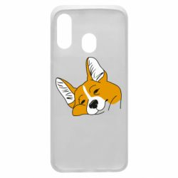 Чохол для Samsung A40 Corgi is dozing