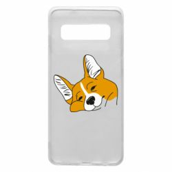 Чохол для Samsung S10 Corgi is dozing