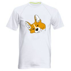 Чоловіча спортивна футболка Corgi is dozing