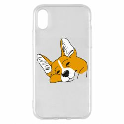 Чохол для iPhone X/Xs Corgi is dozing