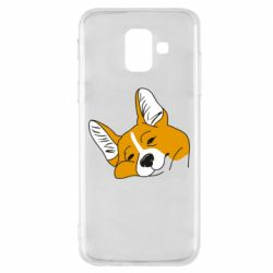 Чохол для Samsung A6 2018 Corgi is dozing