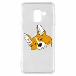 Чохол для Samsung A8 2018 Corgi is dozing