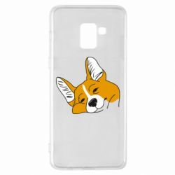 Чохол для Samsung A8+ 2018 Corgi is dozing