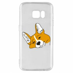 Чохол для Samsung S7 Corgi is dozing