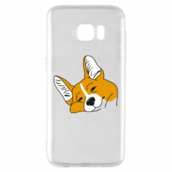 Чохол для Samsung S7 EDGE Corgi is dozing