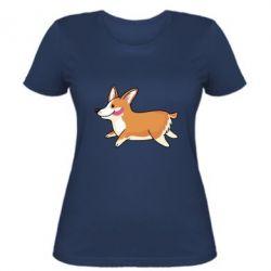 Женская футболка Corgi
