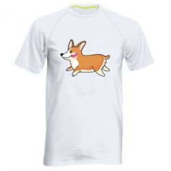 Мужская спортивная футболка Corgi