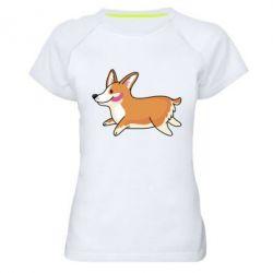 Женская спортивная футболка Corgi