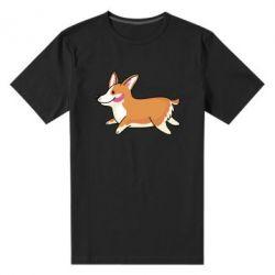 Мужская стрейчевая футболка Corgi