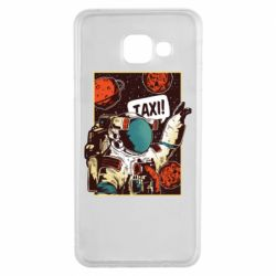 Чехол для Samsung A3 2016 Cosmonaut and taxi