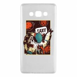 Чехол для Samsung A7 2015 Cosmonaut and taxi