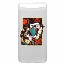 Чехол для Samsung A80 Cosmonaut and taxi