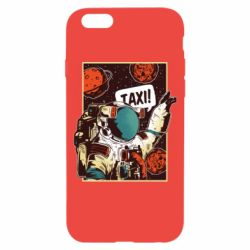 Чехол для iPhone 6/6S Cosmonaut and taxi