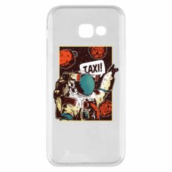 Чехол для Samsung A5 2017 Cosmonaut and taxi