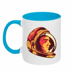 Кружка двухцветная 320ml Cosmonaut in a spacesuit