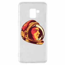 Чехол для Samsung A8+ 2018 Cosmonaut in a spacesuit