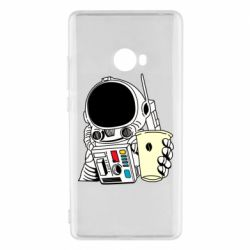 Чехол для Xiaomi Mi Note 2 Cosmonaut with a coffee