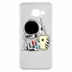 Чехол для Samsung A3 2016 Cosmonaut with a coffee
