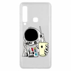 Чехол для Samsung A9 2018 Cosmonaut with a coffee