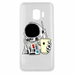 Чехол для Samsung J2 Core Cosmonaut with a coffee