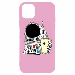 Чехол для iPhone 11 Cosmonaut with a coffee
