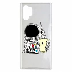 Чехол для Samsung Note 10 Plus Cosmonaut with a coffee