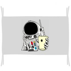 Флаг Cosmonaut with a coffee