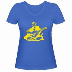 Женская футболка с V-образным вырезом Cossack and Pandora