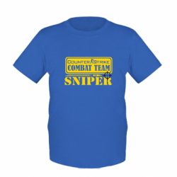 Детская футболка Counter Strike Combat Team Sniper