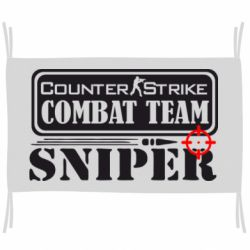 Флаг Counter Strike Combat Team Sniper