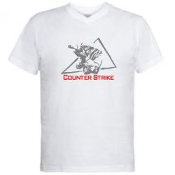Мужская футболка  с V-образным вырезом Counter Strike Gamer - FatLine