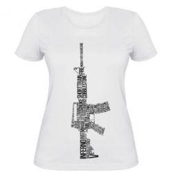Женская футболка Counter Strike M16