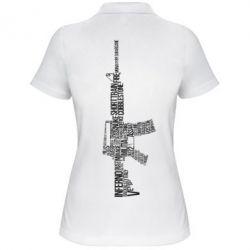 Женская футболка поло Counter Strike M16 - FatLine
