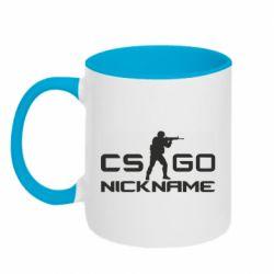 Кружка двухцветная 320ml Counter-Strike nickname