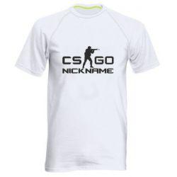Мужская спортивная футболка Counter-Strike nickname