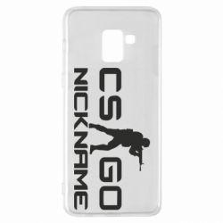 Чехол для Samsung A8+ 2018 Counter-Strike nickname