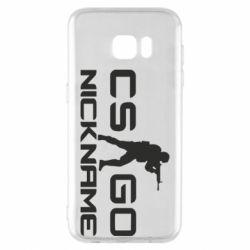 Чехол для Samsung S7 EDGE Counter-Strike nickname